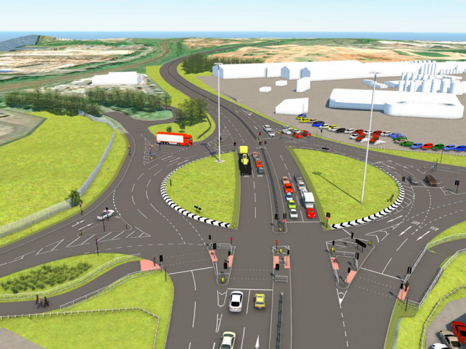 Multi-million pound road scheme signals milestone for company